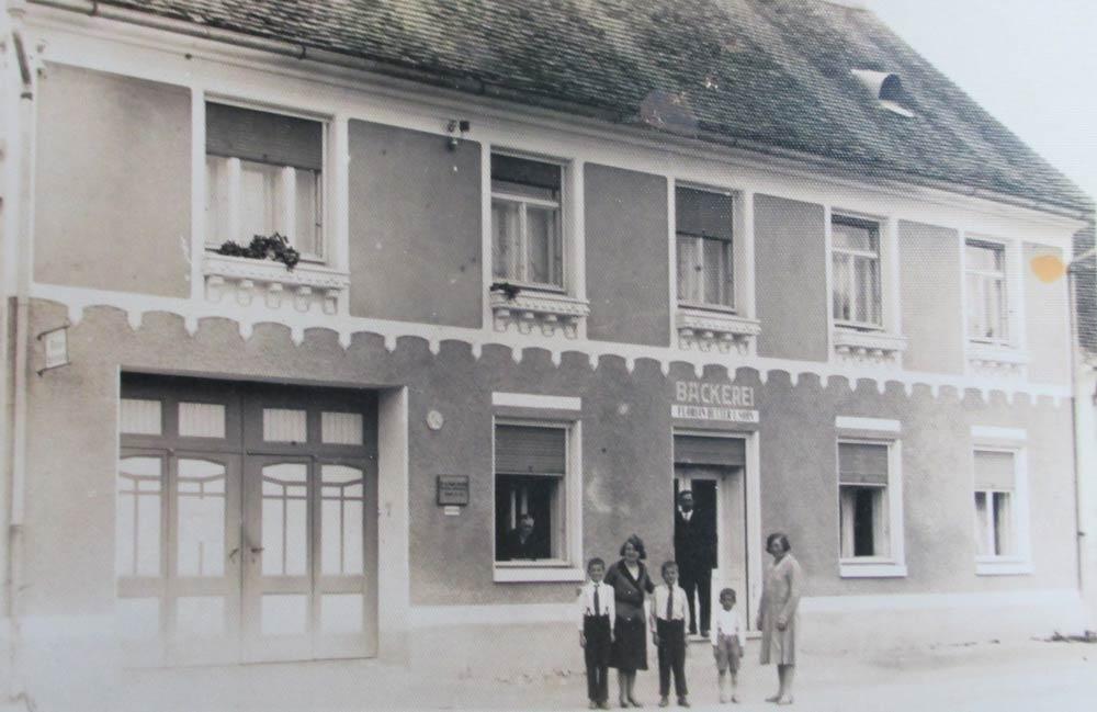 Bäckerei Hütter Geschichte 1930 Kauf des Hauses Hauptstrasse 1