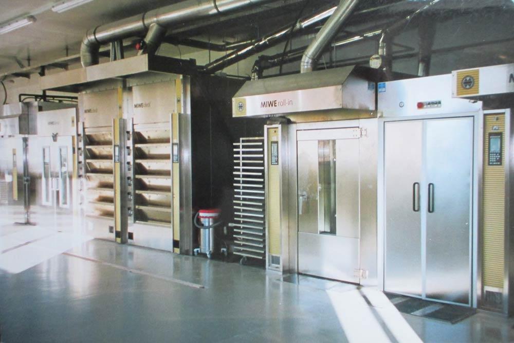 Bäckerei Hütter Geschichte 2001 Neue Produktionsanlage